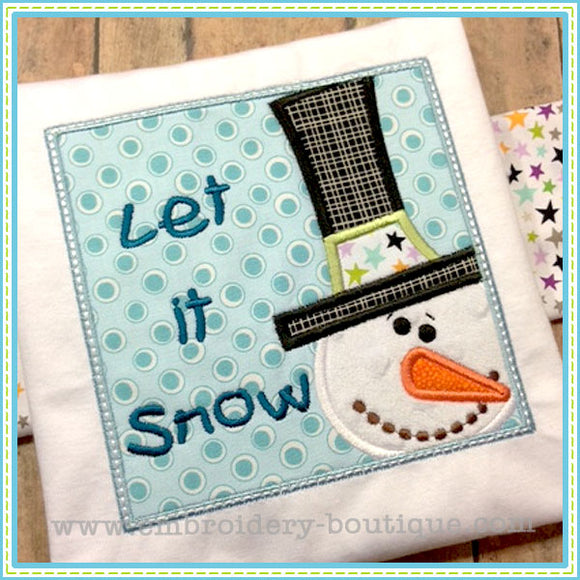 Snowman Box Applique, Applique
