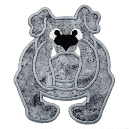 Bulldog Applique - embroidery-boutique