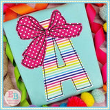 Big Bow Applique Font, Applique Alphabet
