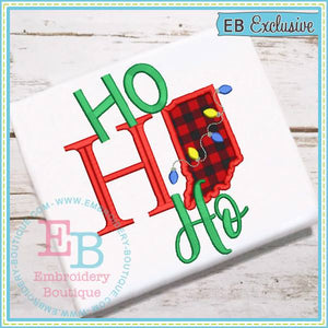 Ho Ho Ho Indiana Applique
