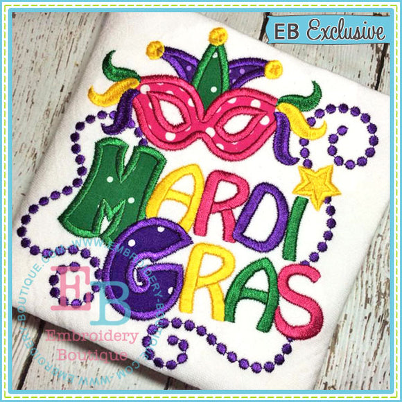Mardi Gras Applique - embroidery-boutique