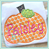 Dotted Pumpkin Applique