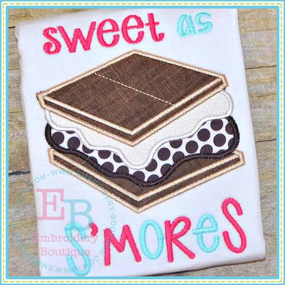 Sweet As S'mores Applique, Applique