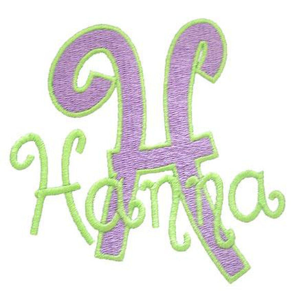 Hanna Alphabet, Applique