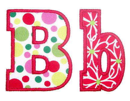 Chunky Applique Alphabet - embroidery-boutique