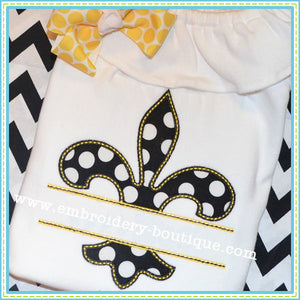 Split Fleur de Lis Applique - embroidery-boutique