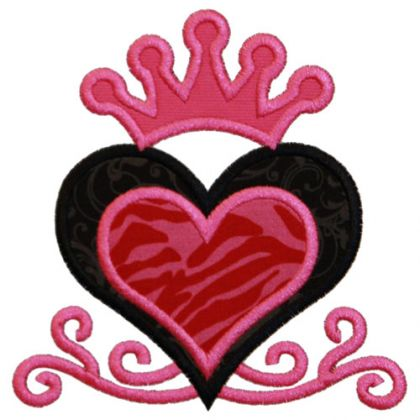 Queen Of Hearts Applique - embroidery-boutique