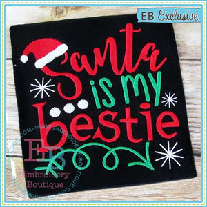 Santa Bestie Embroidery Design, Embroidery