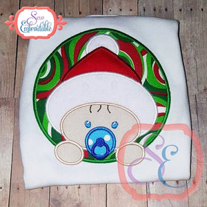 Christmas Baby Boy Applique