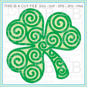 Swirly Shamrock SVG - embroidery-boutique