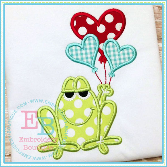 Boy Vday Frog Applique, Applique
