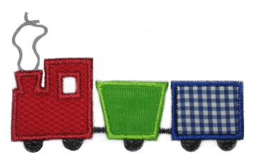 Simple Train Applique - embroidery-boutique