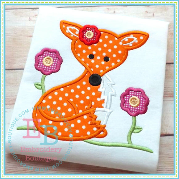 Girl Fox Applique, Applique