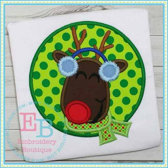 Rudolph Circle Applique - embroidery-boutique