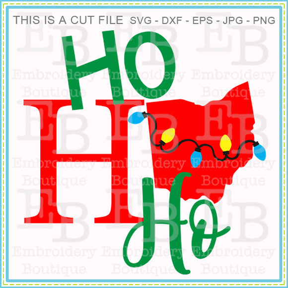 Ho Ho Ho Ohio SVG, SVG Cut Files