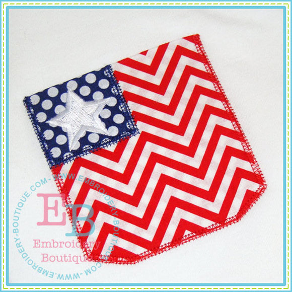 Patriotic Pocket, Applique
