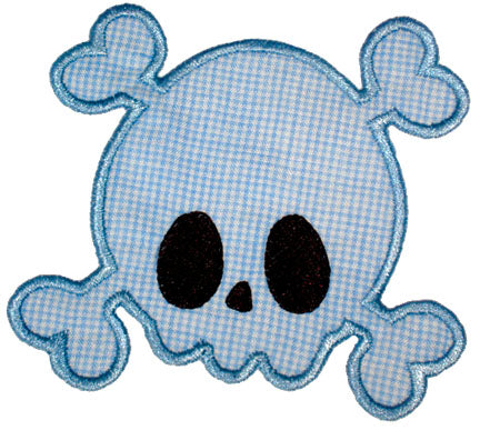 Skully Bones Applique - embroidery-boutique
