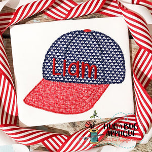 Baseball Hat Zig Zag Stitch Applique