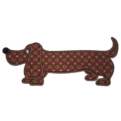 Weenie Dog Applique - embroidery-boutique