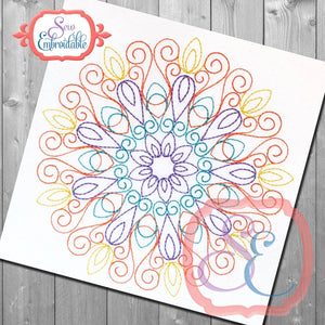 Emma Mandala Quilting Square - embroidery-boutique