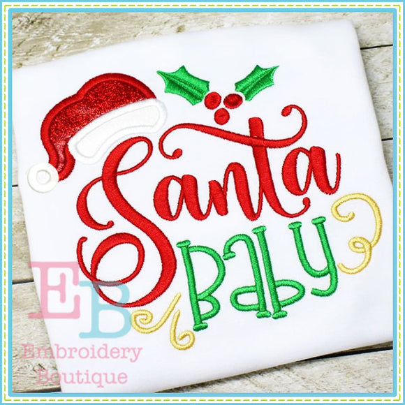 Santa Baby Applique, Applique