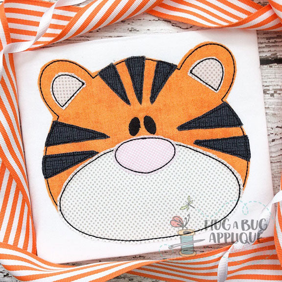 Tiger Bean Stitch Applique-Embroidery Boutique