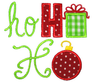 Ho Ho Ho Applique - embroidery-boutique