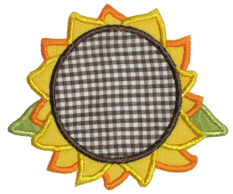 Sunflower Applique - embroidery-boutique