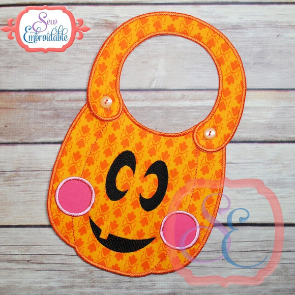 ITH Pumpkin Baby Bib - embroidery-boutique