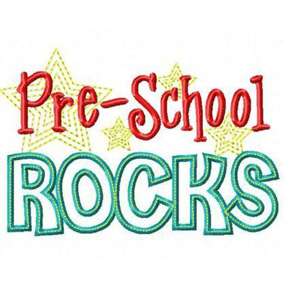 Preschool Rocks - embroidery-boutique