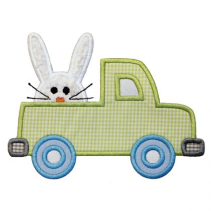 Bunny Truck Applique