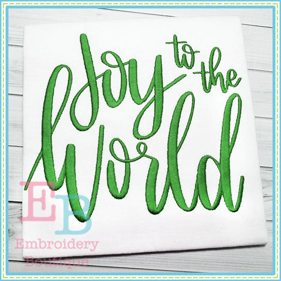Joy to the World Design, Embroidery