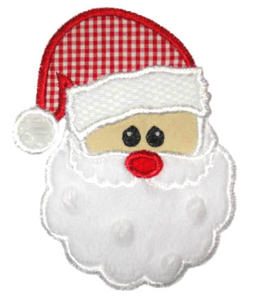 Santa Face Applique - embroidery-boutique