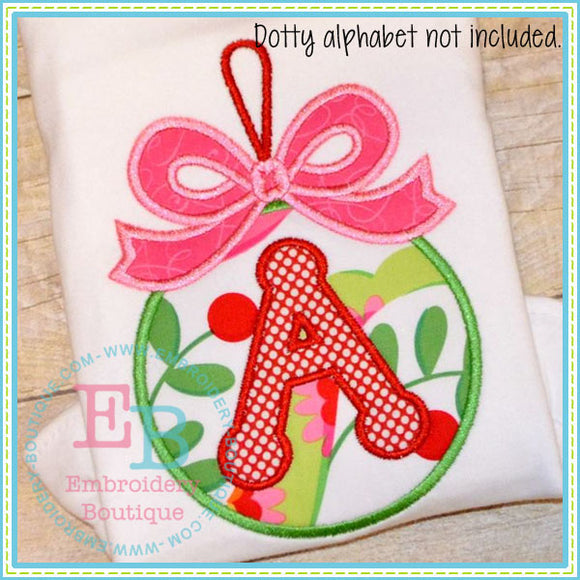 Bow Ornament Applique - embroidery-boutique