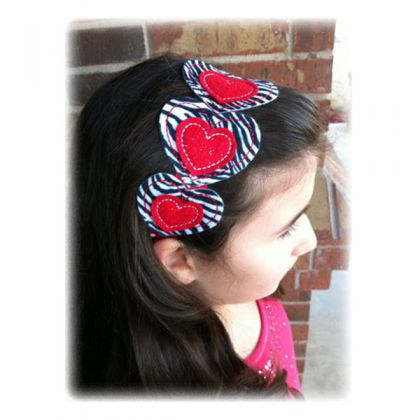 Heart Headband - embroidery-boutique