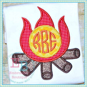 Monogram Camp Fire Applique