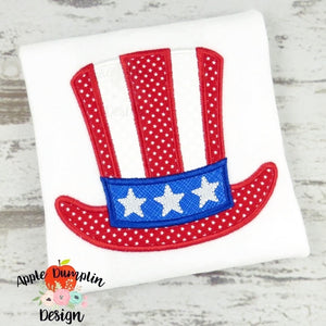 4th of July Hat Applique Design, applique