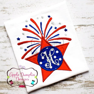 4th of July Star Applique Design, applique