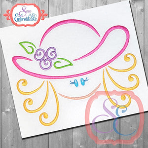 Hat Girl 1 Embroidery Design