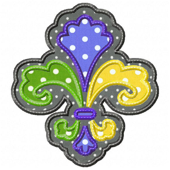 Layered Fleur De Lis Applique - embroidery-boutique