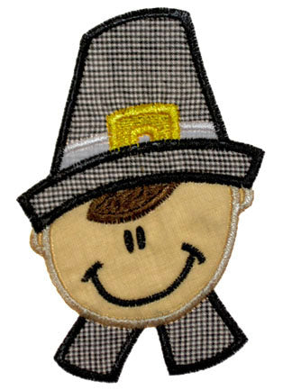 Pilgrim Boy Applique - embroidery-boutique
