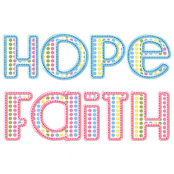 Hope Applique Alphabet (1.5 - 3.5 inches) - embroidery-boutique