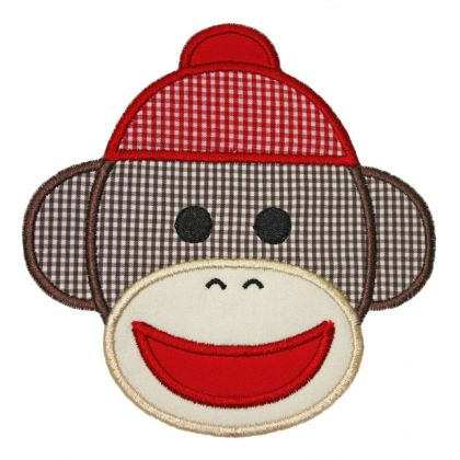 Sock Monkey Applique - embroidery-boutique