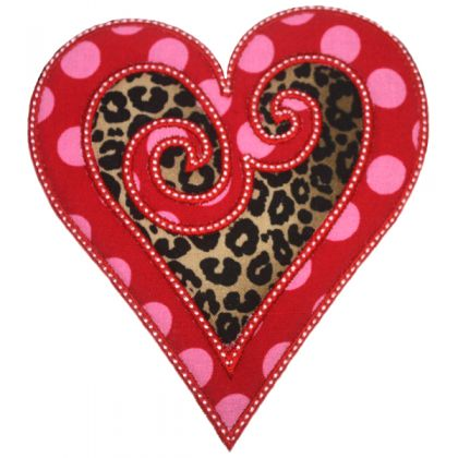 Swirled Heart Applique - embroidery-boutique