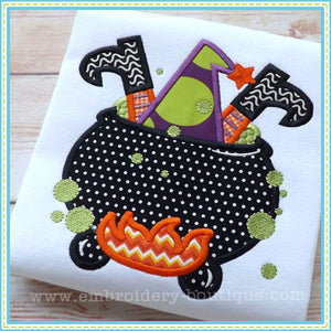 Witch Cauldron Applique