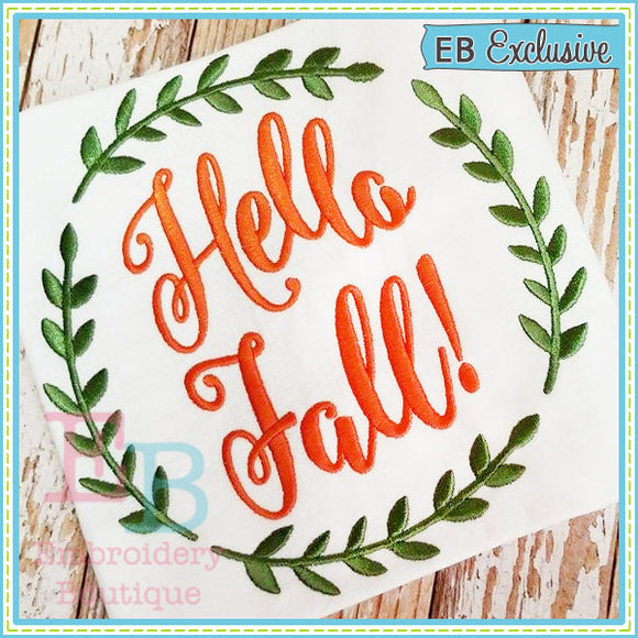 Hello Fall Design, Embroidery