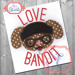 Love Bandit Applique, Applique