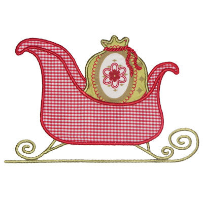 Sleigh Applique - embroidery-boutique