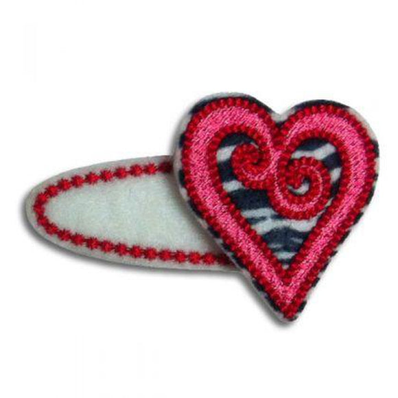 Swirled Heart Clip Centers, Hair Clip Centers