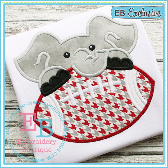 Football Elephant Boy Applique - embroidery-boutique